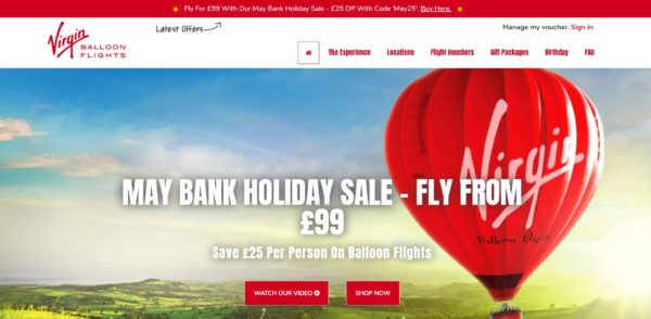 Virgin Balloon Holiday